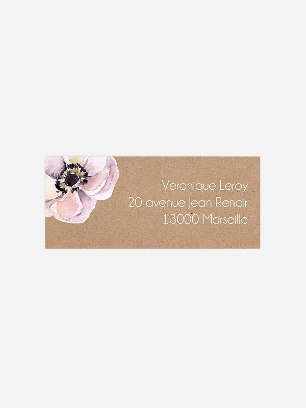 étiquette expéditeur anniversaire Anniversaire fleuri