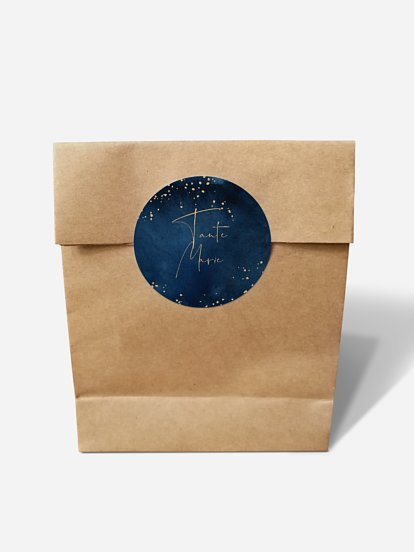 "Papiertüte personalisiert ""Night Sky"""
