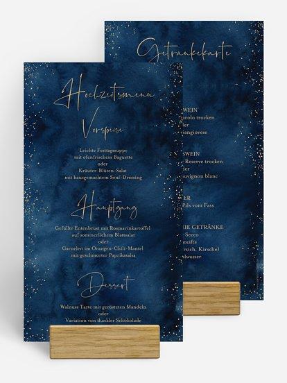 """Menükarte Hochzeit """"Night Sky"""""""