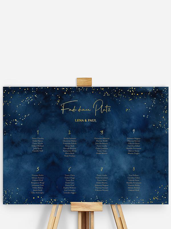 Sitzplan Plakat Night Sky