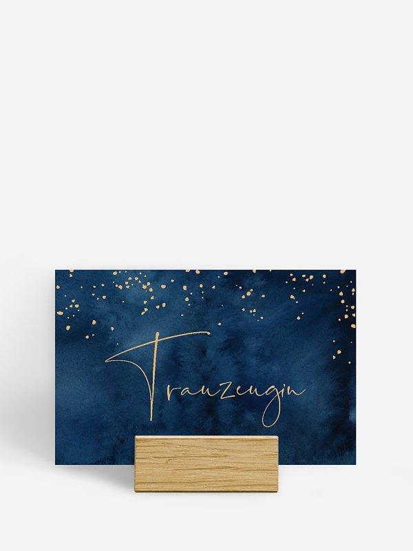 Tischkarte Hochzeit Night Sky