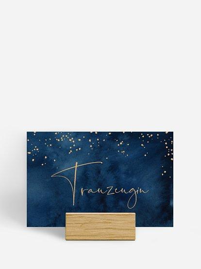 """Tischkarte Hochzeit """"Night Sky"""""""