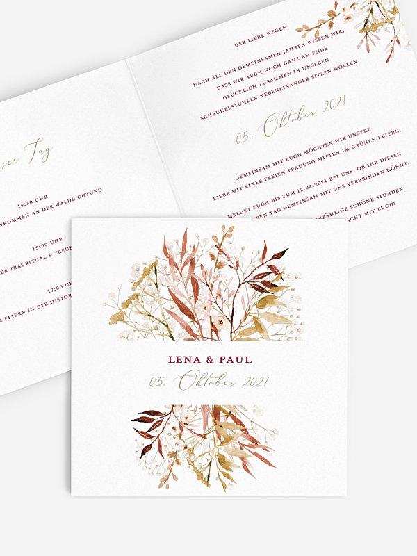 Hochzeitseinladung Dried Bouquet