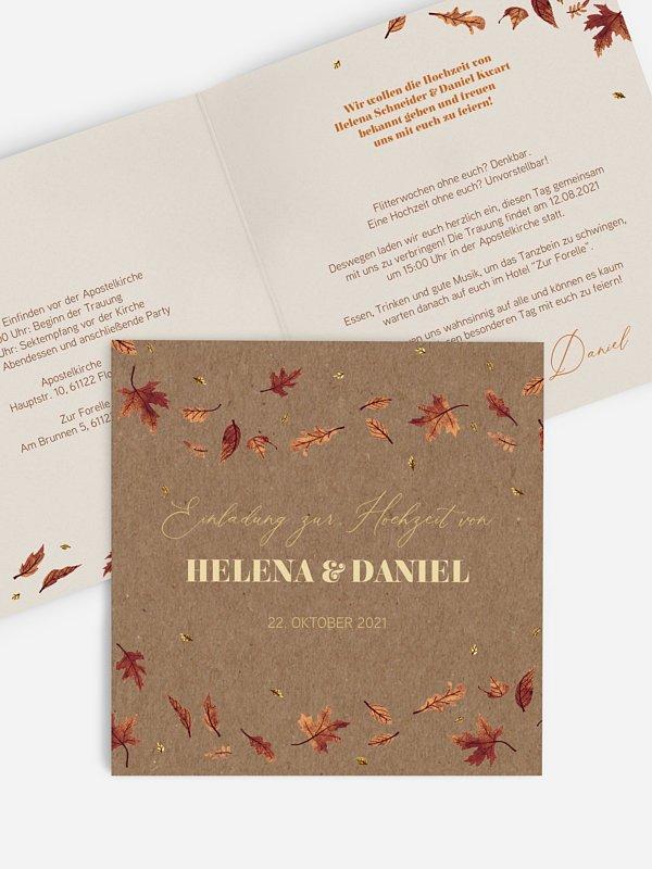 Hochzeitseinladung Herbstbrise