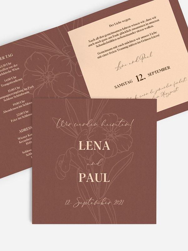 Hochzeitseinladung Herbstblüte