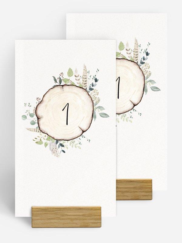 Numéro de table mariage Amour des bois