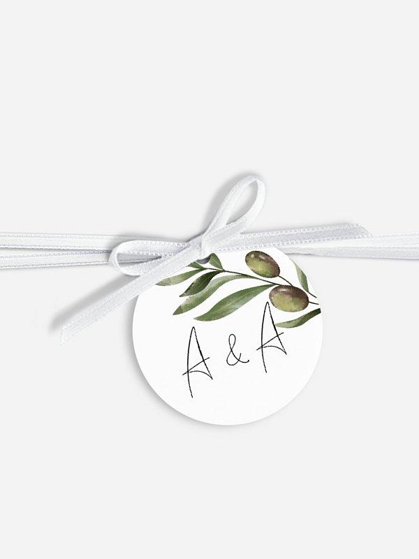 Étiquette avec ruban Sweet olive