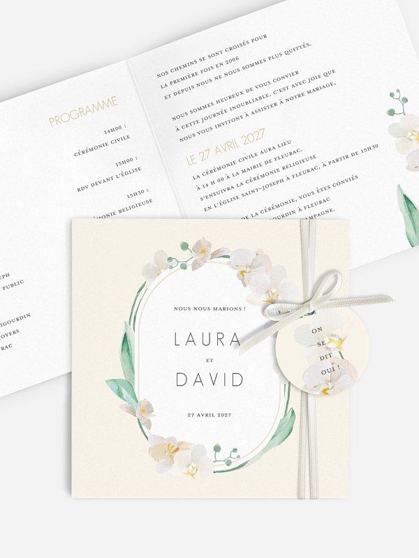 Faire-part de mariage Belles orchidées