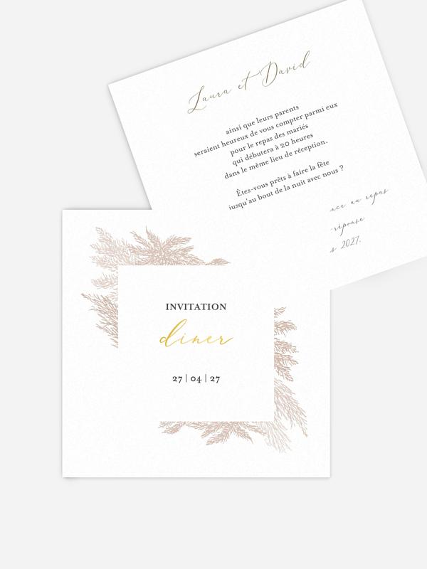 Carton d'invitation Blush Pampas