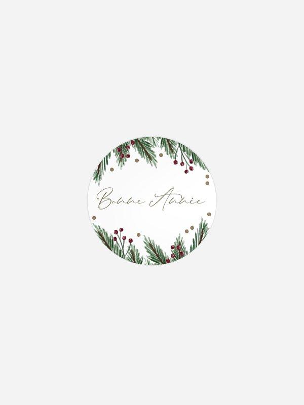 Étiquette cadeau Noël Christmas Branch