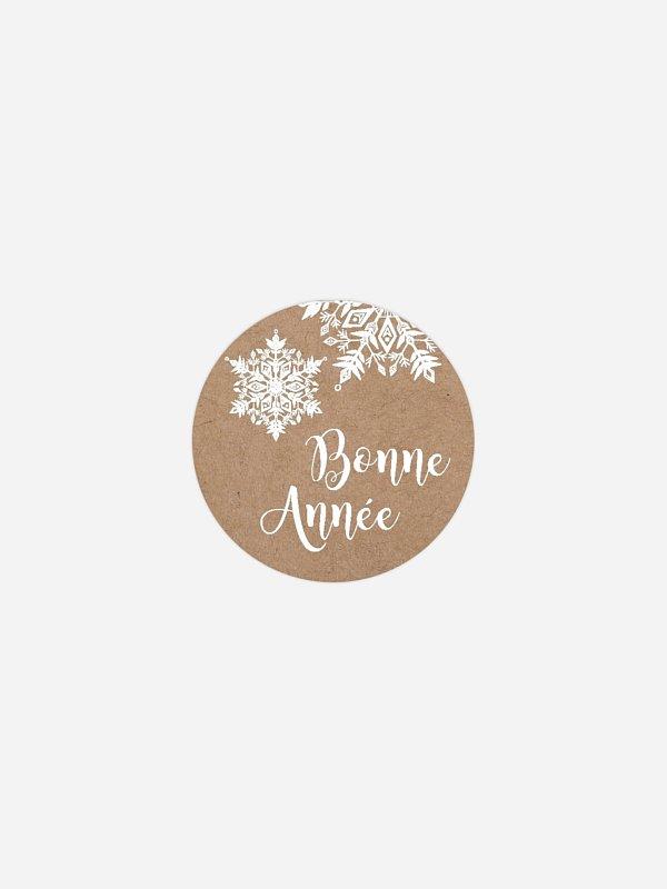 Étiquette cadeau Noël Magie blanche