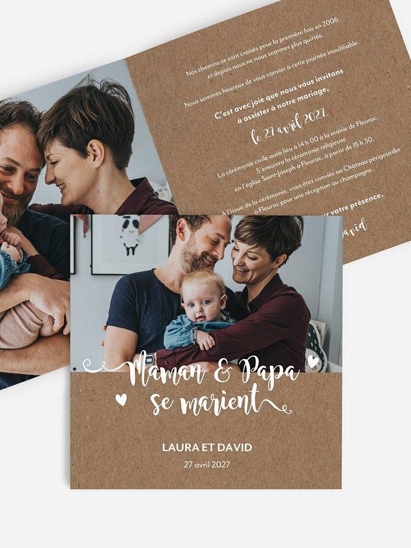 Faire-part de mariage Family Love