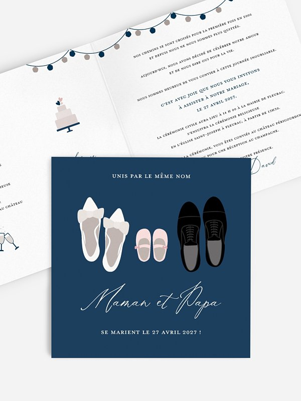 Faire-part de mariage Chaussures des mariés