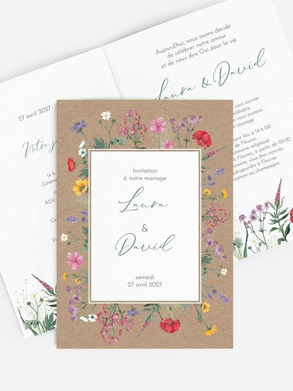 Faire-part de mariage Wildflowers
