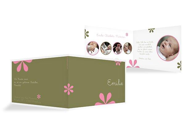 "Geburtskarte ""Blütenzauber"""