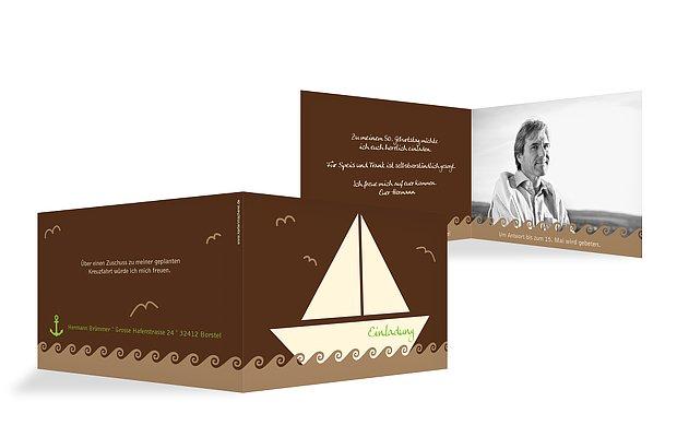 """Einladungskarte """"Segelboot"""""""