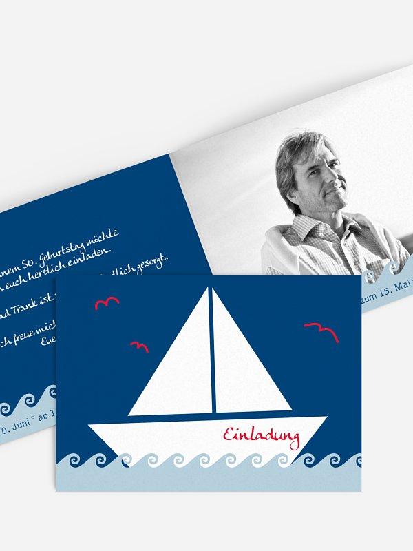 Geburtstagseinladung Segelboot