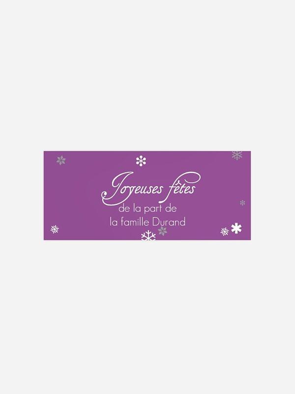 Étiquette cadeau Noël Boule de neige