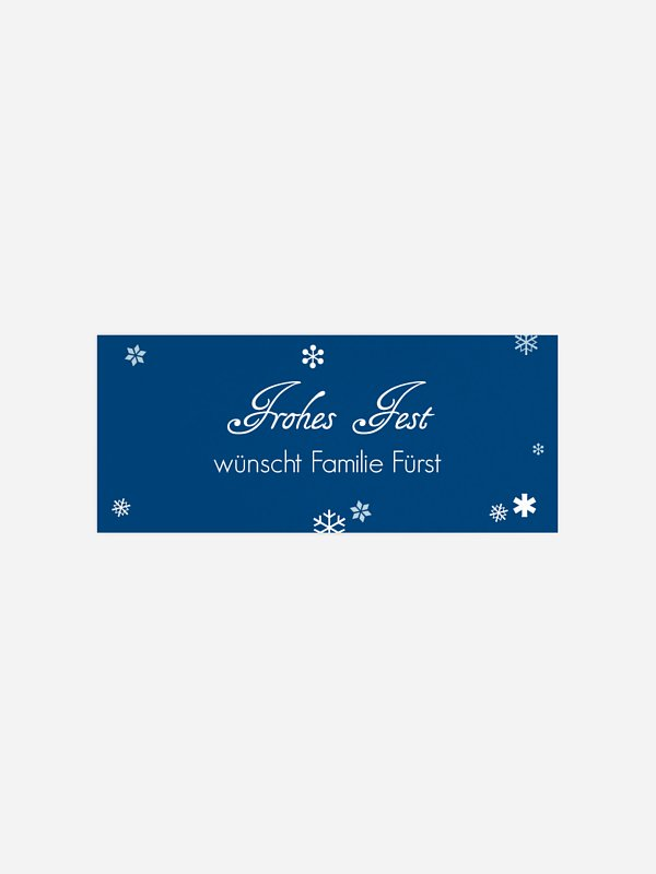 Geschenkaufkleber Weihnachten Schneeball