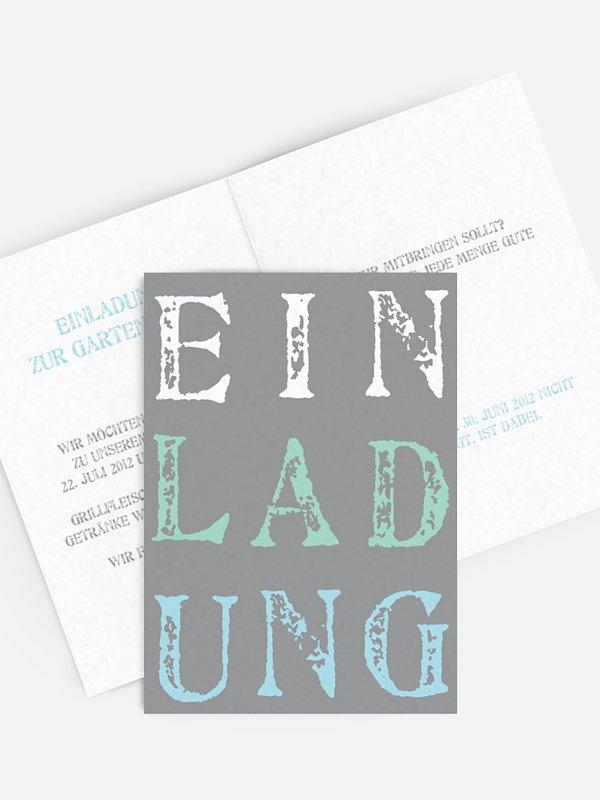 Partyeinladung Letters