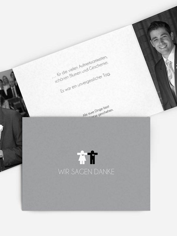 Dankeskarte Hochzeit Mann & Frau