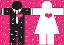 """Hochzeitseinladung """"Mann & Frau"""""""