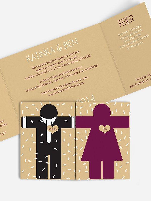 Hochzeitseinladung Mann & Frau