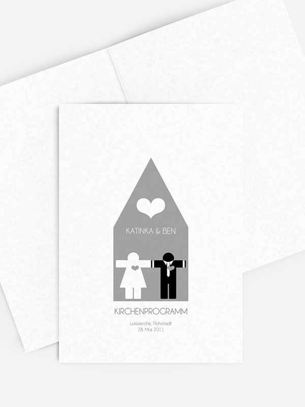 Kirchenheft Hochzeit Mann & Frau