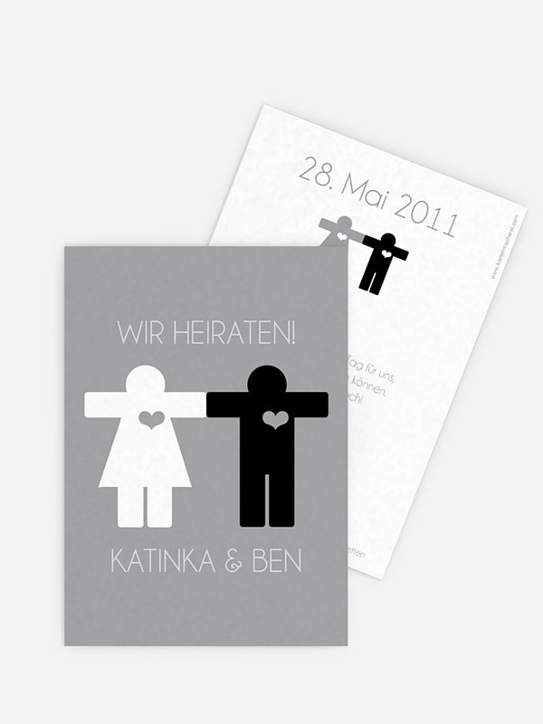 Save-the-Date Karte Mann & Frau
