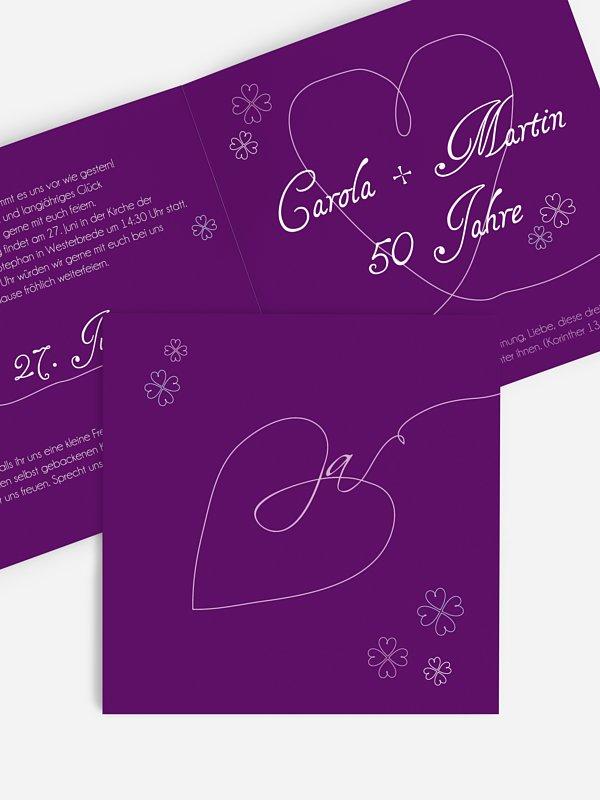 Einladung zur Goldenen Hochzeit JA