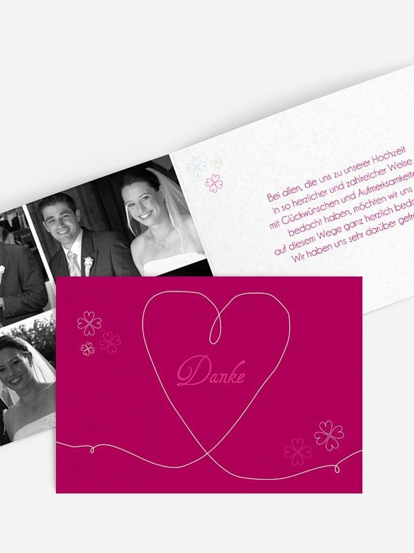 Dankeskarte Hochzeit JA
