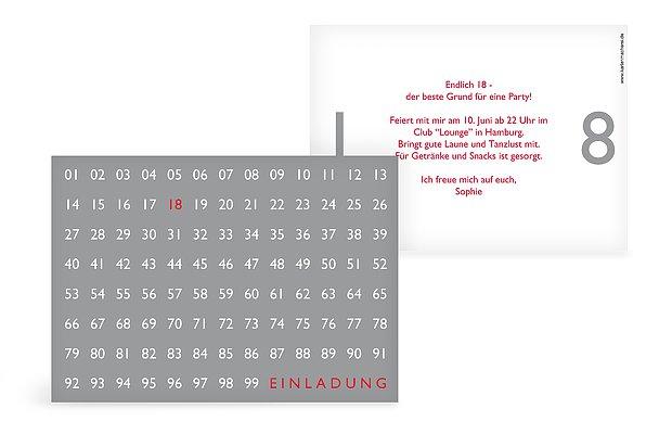 einladung zum 18. geburtstag: einladungskarten gestalten, Einladungsentwurf