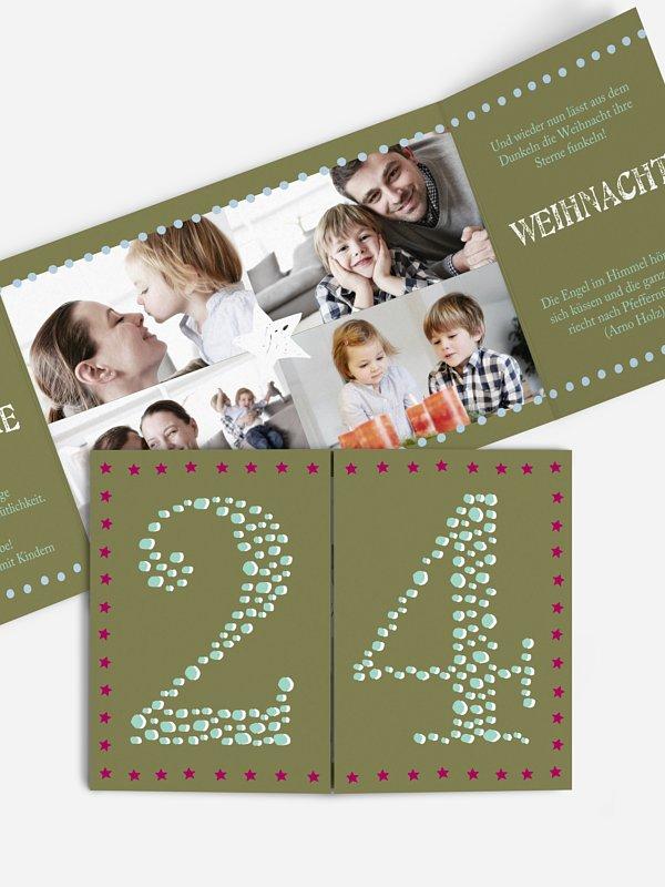 Weihnachtskarte 24tes Türchen