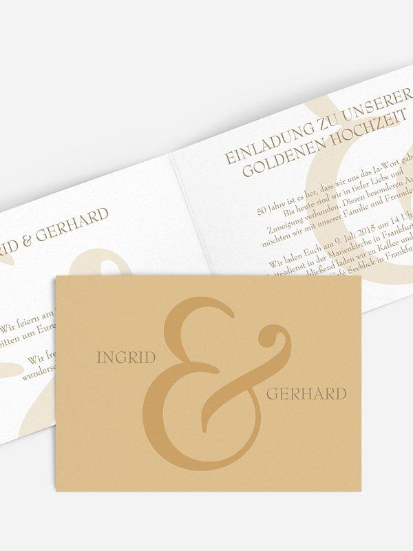 Einladung zur Goldenen Hochzeit &