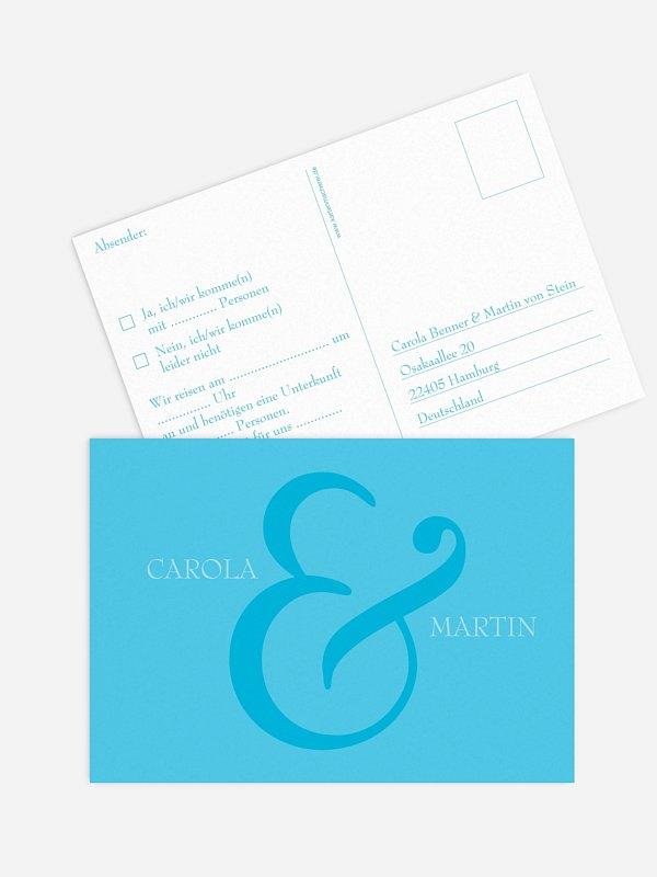 Antwortkarte Hochzeit &