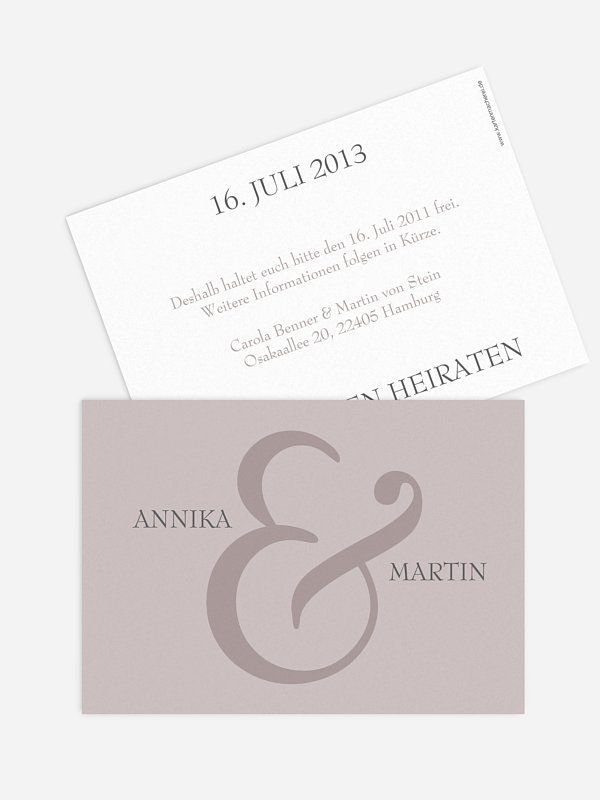 Save-the-Date Karte &