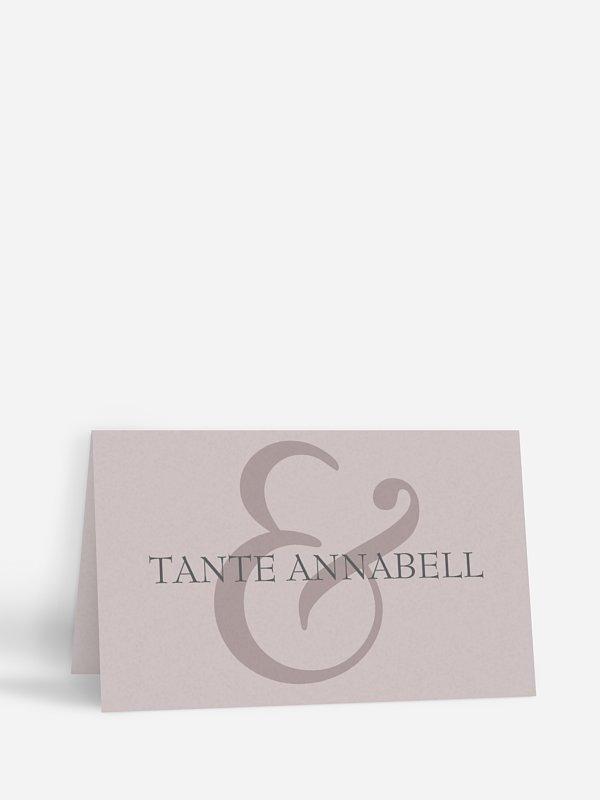 Tischkarte Hochzeit &
