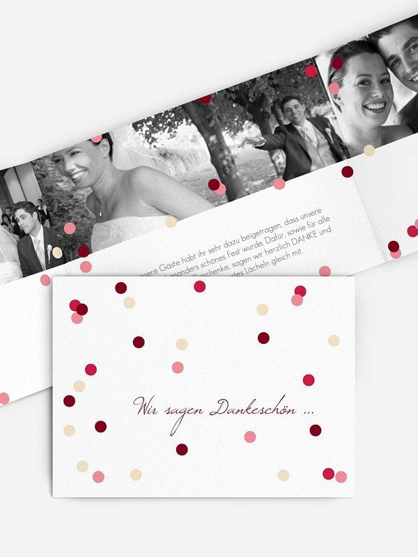 Dankeskarte Hochzeit Punktvoll