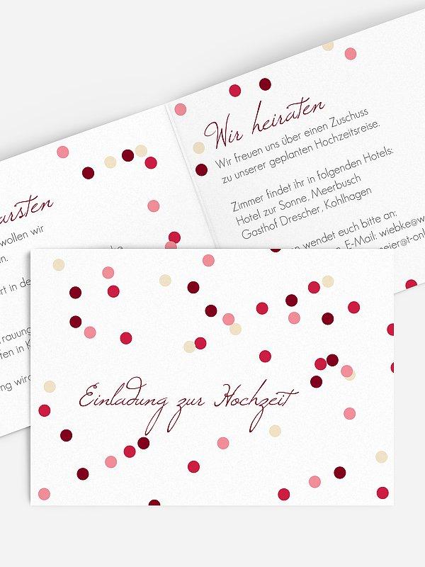 Hochzeitseinladung Punktvoll