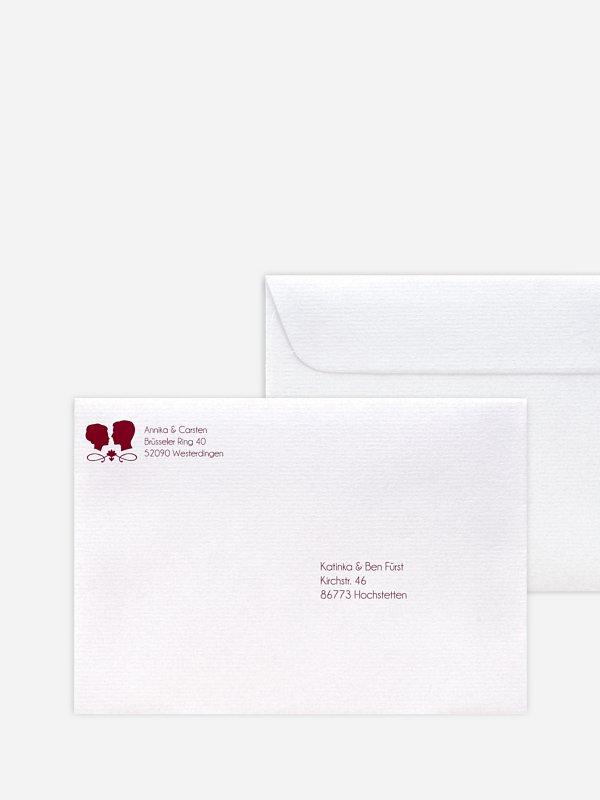 Briefumschlag Bedruckt Scherenschnitt