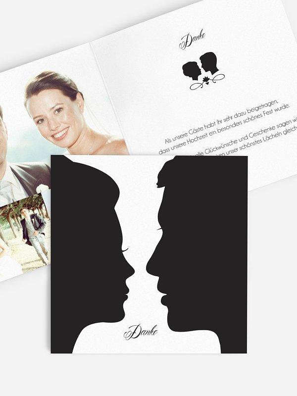 Dankeskarte Hochzeit Scherenschnitt