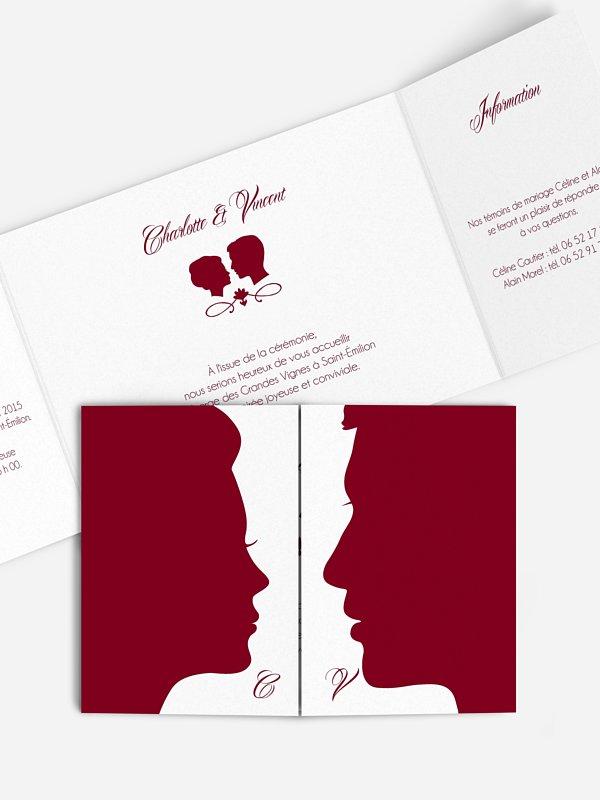 Faire-part mariage Silhouette