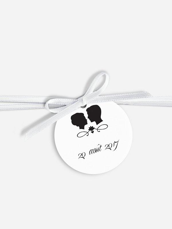 Étiquette avec ruban Silhouette