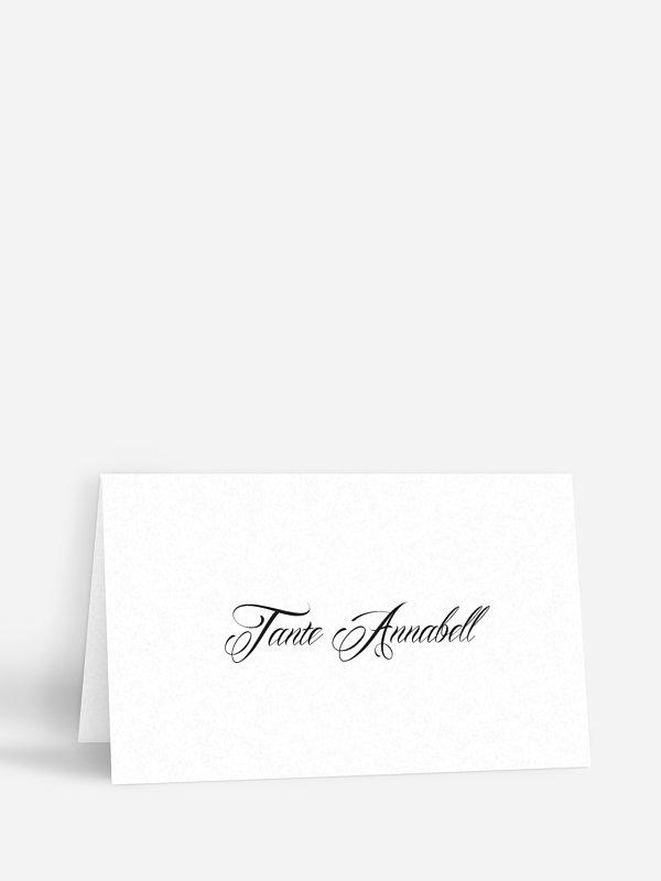Tischkarte Hochzeit Scherenschnitt