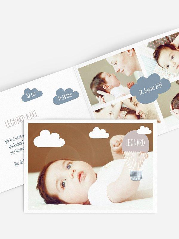 Geburtskarte Clouds