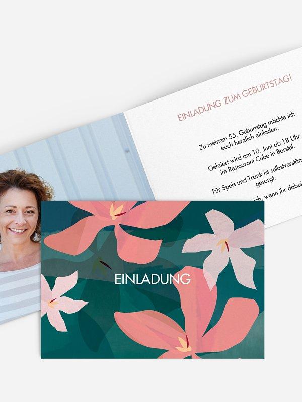 Geburtstagseinladung Blumenmeer
