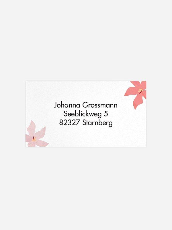 Empfängeraufkleber Geburtstag Blumenmeer