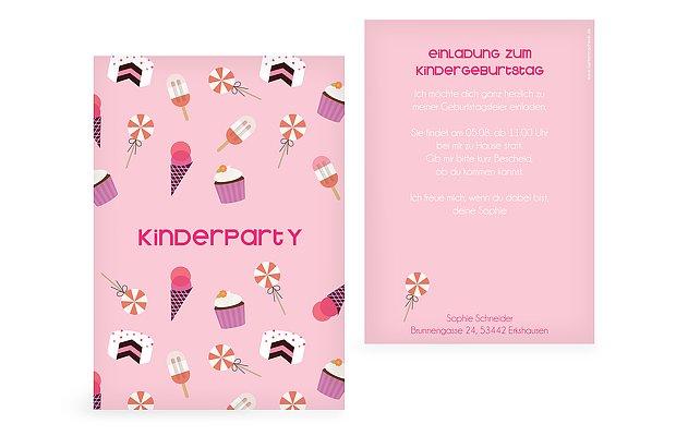 einladungskarten zum kindergeburtstag selbst gestalten, Einladung