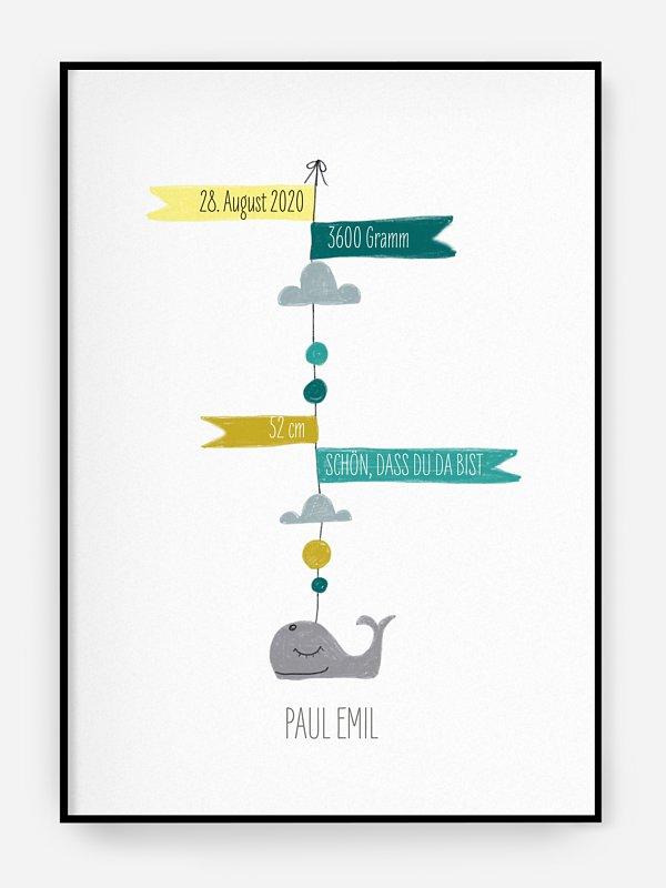 Poster Geburt Mini Moby