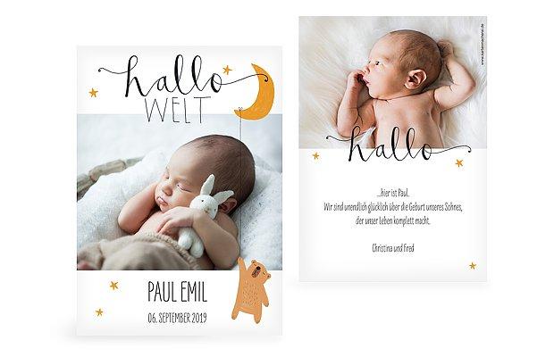 Geburtskarte Lovely Lullaby